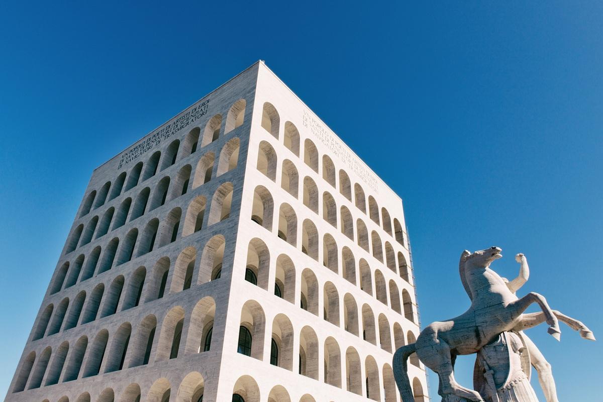 roma eur colosseo quadrato palazzo della civiltà