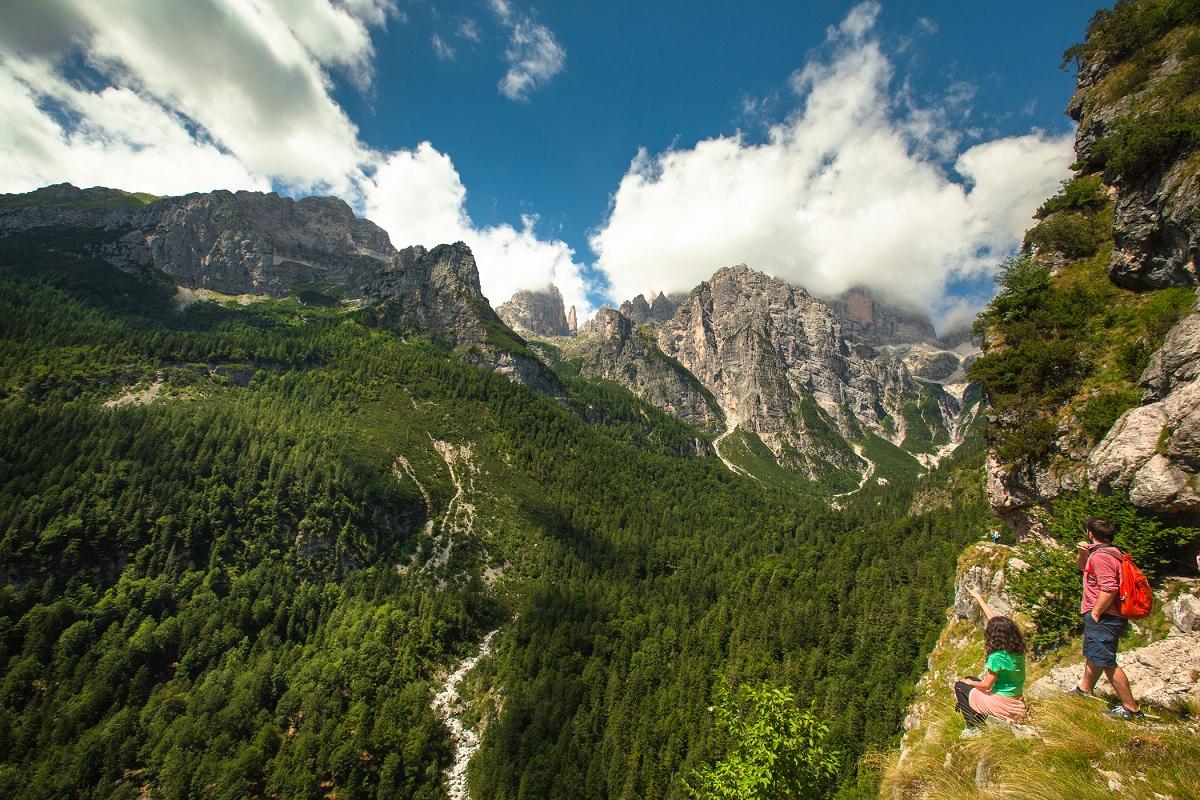 Escursioni estive in montagna, trekking vicino Trento Paganella