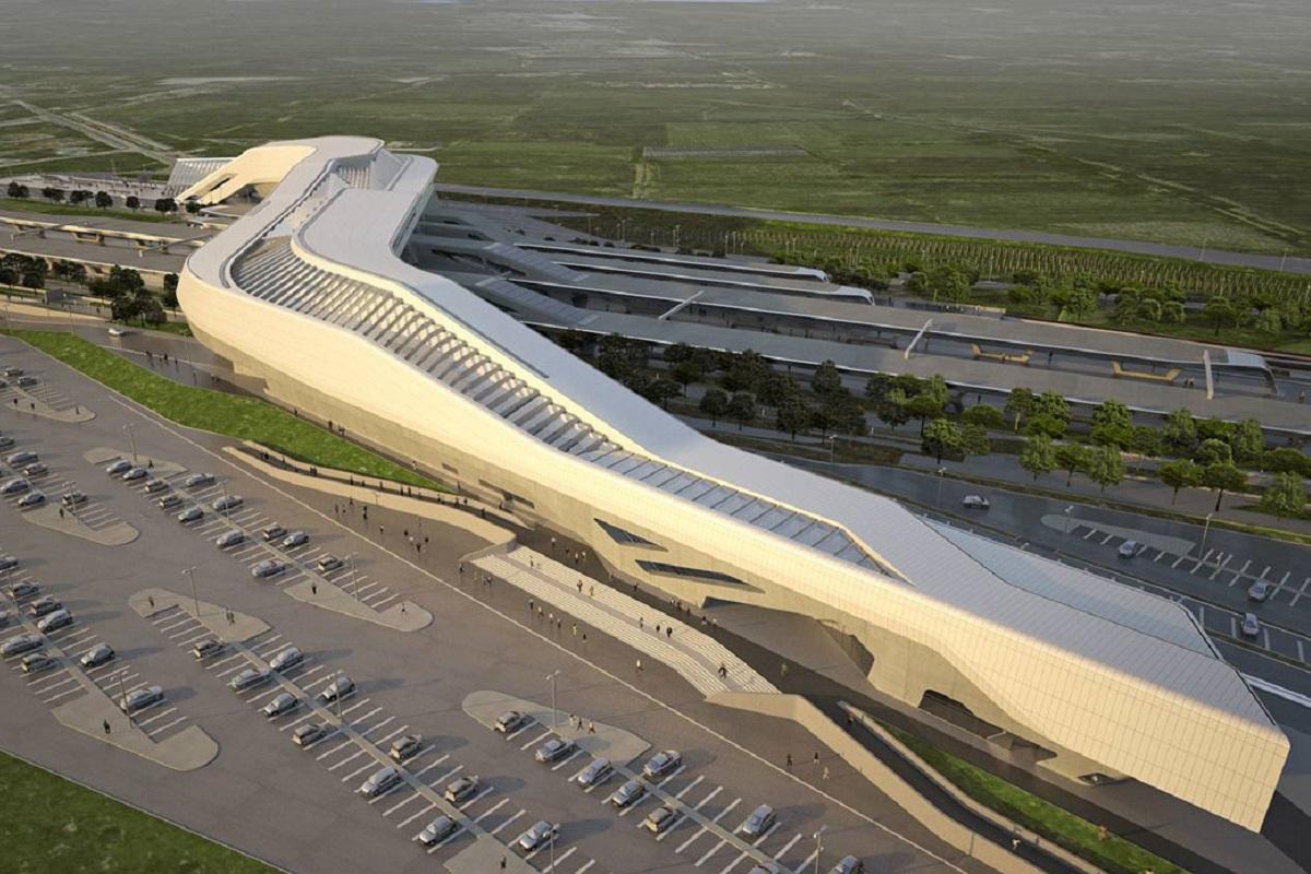Stazione di Napoli Afragola: il gioiello di Zaha Hadid - visione aerea