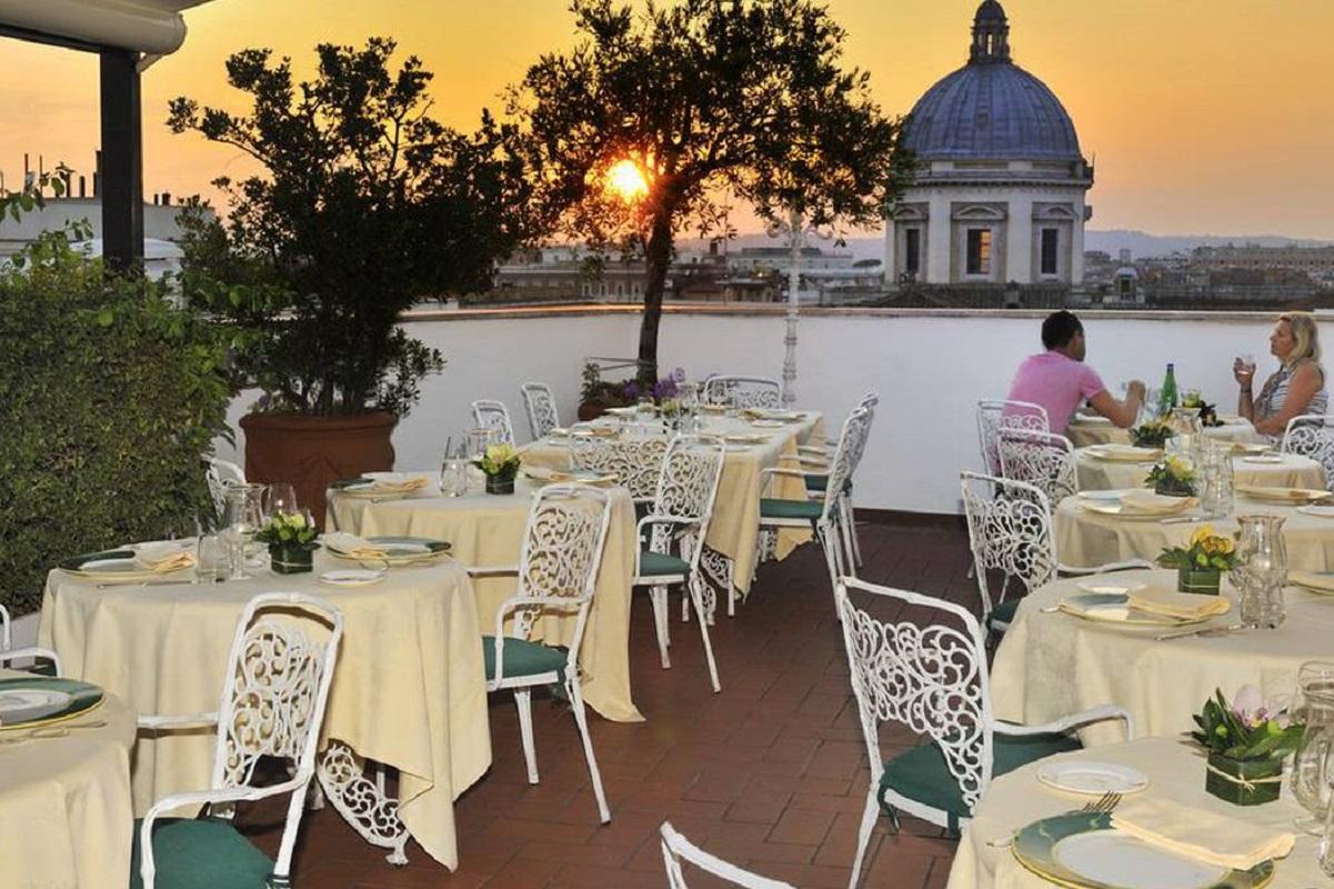 Ristoranti con terrazza a Roma - la terrazza dei papi2