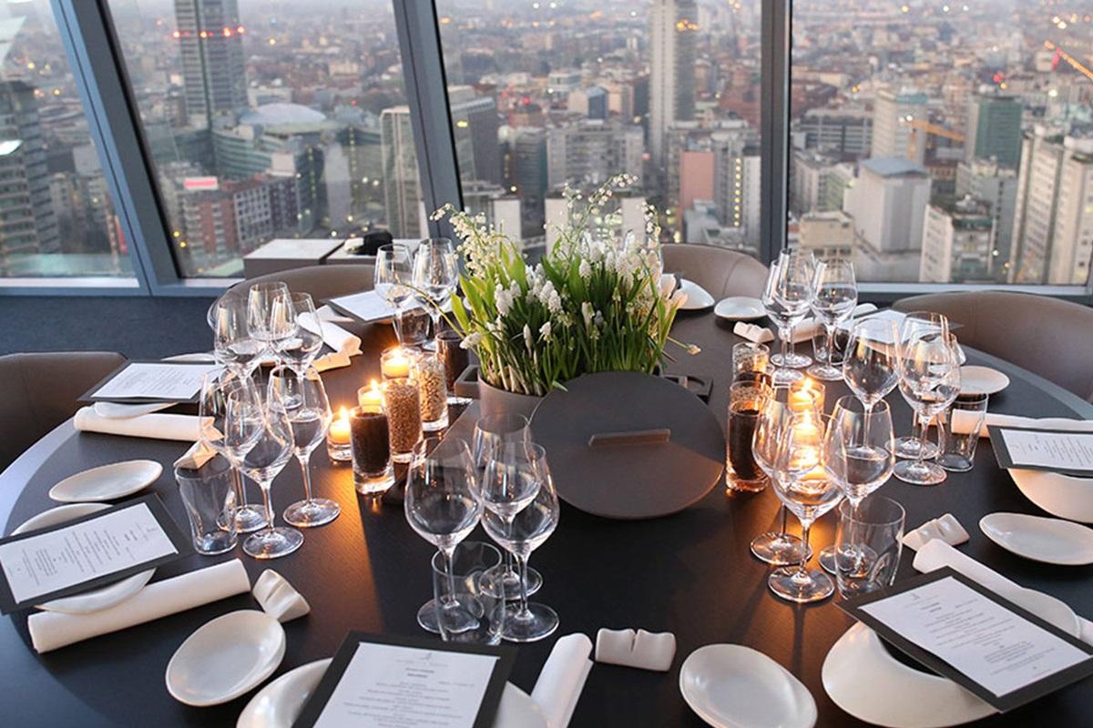 Pranzo di lavoro a Milano - Berton tavolo con vista