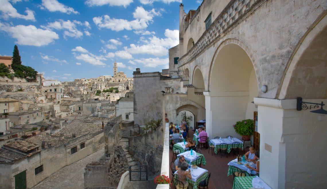 Trattorie a Matera . Il Terrazzino Terrazza - Panorama Diurno