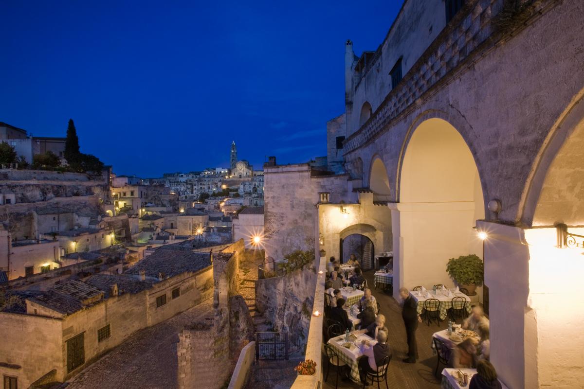 Trattorie a Matera . Il Terrazzino Terrazza - Panorama Notturno (1)