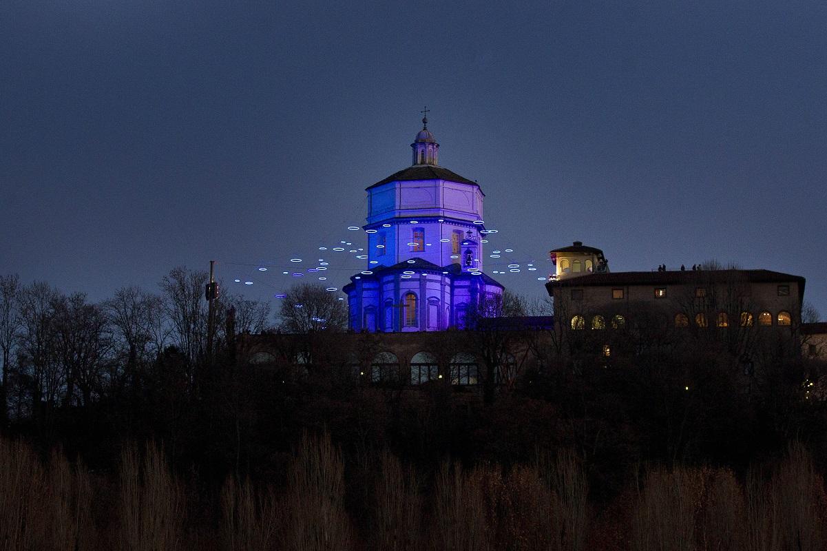 Luci d'Artista Torino - Rebecca Horn_Piccoli spiriti blu