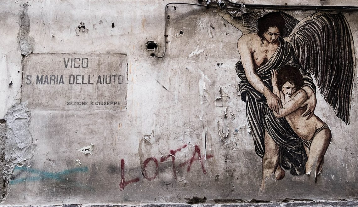 Street art a Napoli - Angelo custode credits Street art a Napoli - Angelo custode credits chankobetter via Flickr_