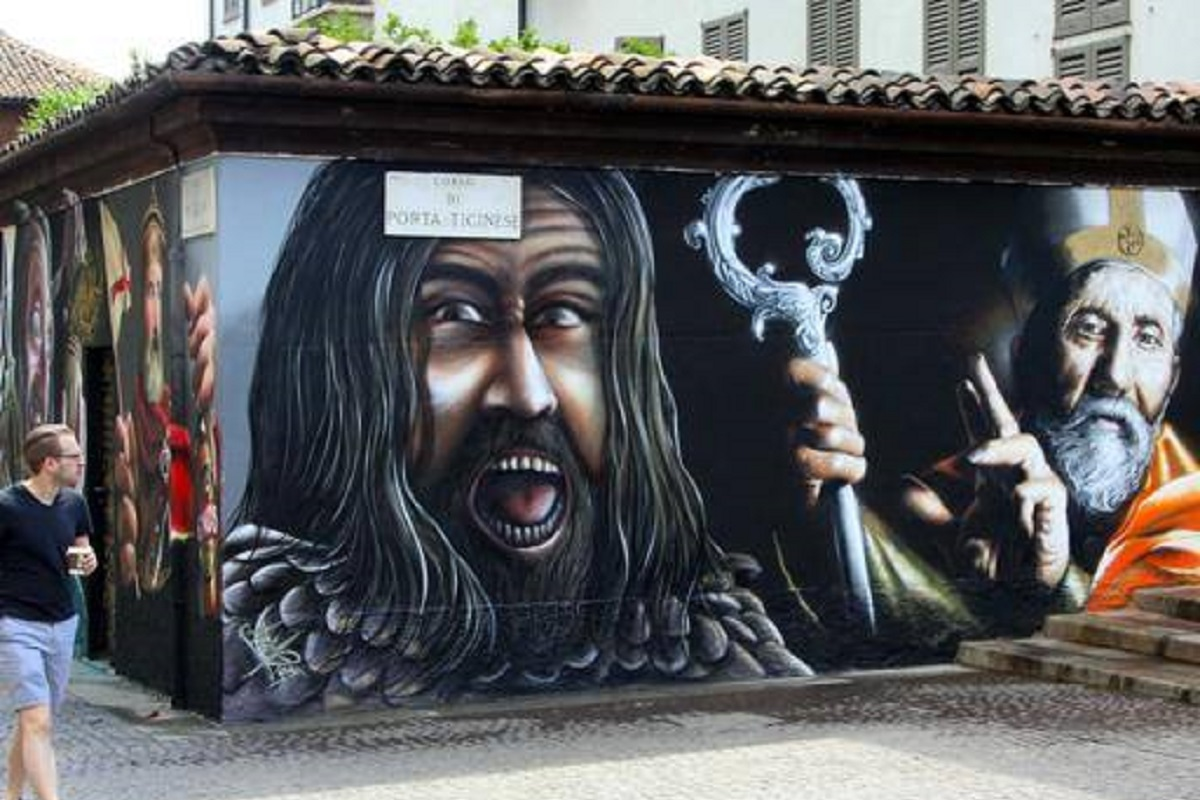 Street art Milano Ticinese credits Corriere Milano