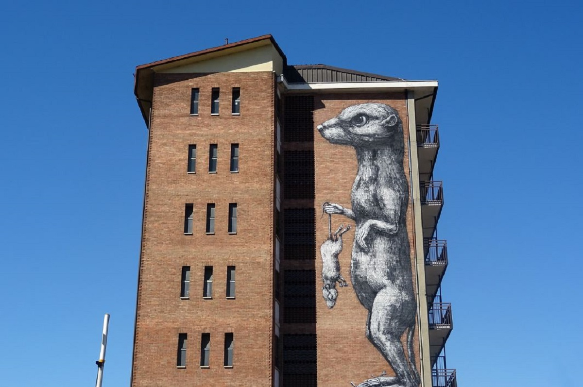 Street Art Torino donnola credits Valiena via flickr